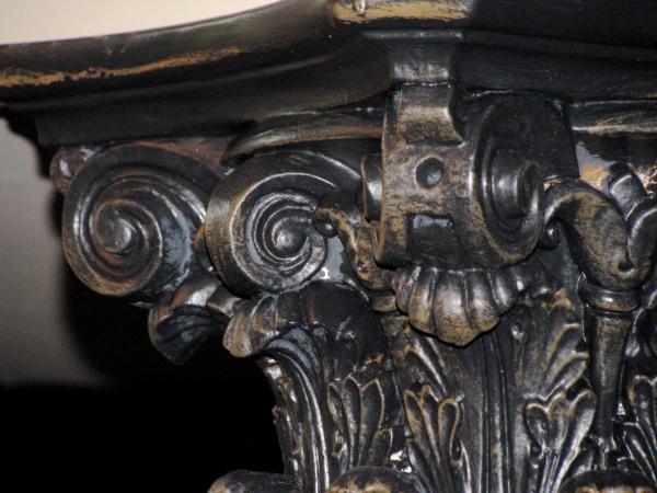 Aged column detail