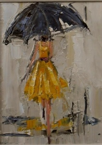 """Dancing in the Rain I"" by Kathryn Trotter Art"