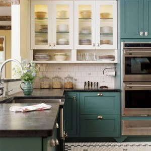 bicolor cabinetry