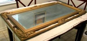 Damaged mirror frame