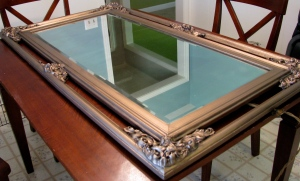 Restored mirror frame